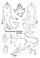 Morgul Wolf Ref by AnyaBoz