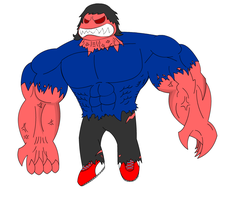 Hulked Bryan, colored by HorrorshowMania