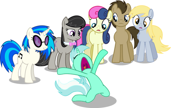 Lyra's reaction to Equestria Girls by Vector-Brony