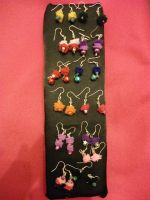 Felt earrings by Owlnuny