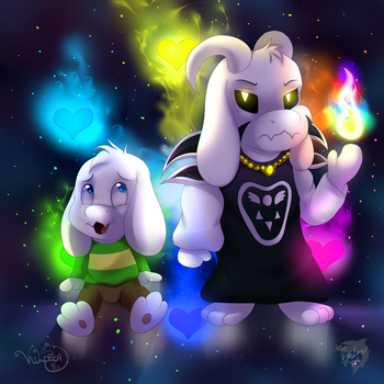 Child Asriel and God Asriel [Collab] by TheBMeister