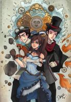 Legend of Korra Steampunk by StarMasayume