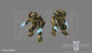 Starcraft 2: Protoss Zealot by PhillGonzo