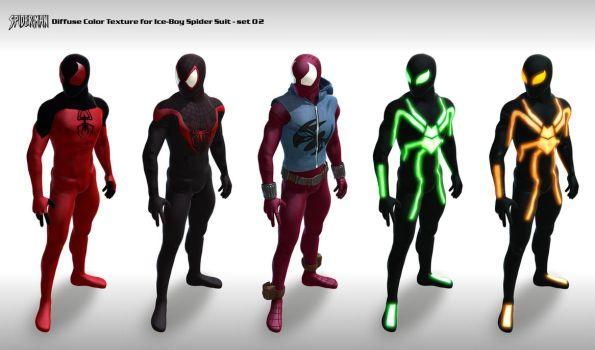 Spider suit Texture set 02 by 6and6