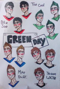 And another green day drawing, I love them too by GabytaRB
