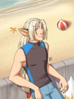 Jast at the Beach by Pinkuh