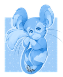 Day 5 -  Blue Mouse by kimmymice
