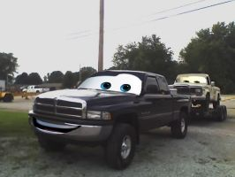 Cars Dodge Ram and PJ by Steven304