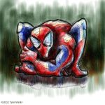 Spidey Watercolor by TylerMartin