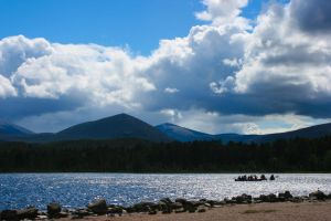 Rowing in shadow of cairngorms by wulliamwallace