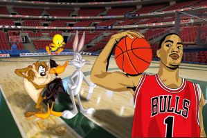 Space Jam 2, with Derrick Rose by jesus-at-art