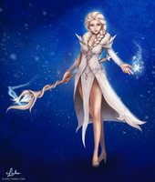 Snow Sorceress Elsa by nyaruko