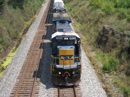 CSX C40-8 7601 by LDLAWRENCE