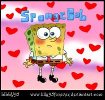 SpongeBob in love by LillayFran