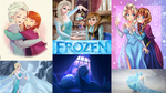 Frozen wallpaper collage by GirlKaito