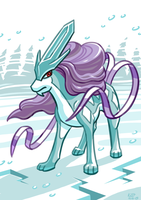 Fanart - Suicune by kittyninjafish