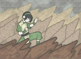 Toph Earthbend by ShadowXSnake