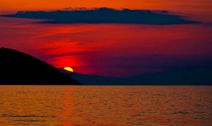 sunset in Greece - Thassos by Arth72