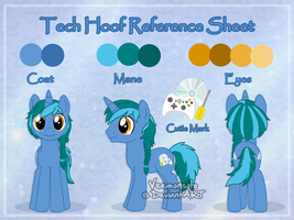 Reference sheet: Tech Hoof by Veemonsito
