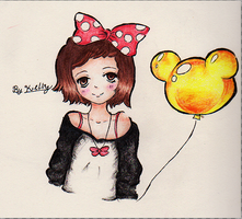 Minnie mouse's fan by VioIette