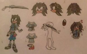 Sonic Boom OC Reference - Female Sonic Persona by A5L