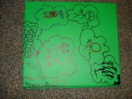 Awesome binder design- green by TabbyWhite