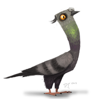 DAY 370. An Pigeon by Cryptid-Creations