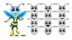 Bee Avatar Facial Expressions by piratesofbrooklyn