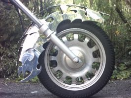 Stainless steel front fender by Licataknives