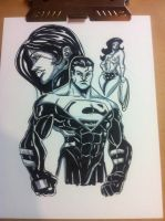 Superman and the Ladies by IanDWalker