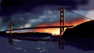 Golden Gate Bridge by ThePaperPixel