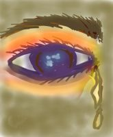 tears from blue  eye by Revaster
