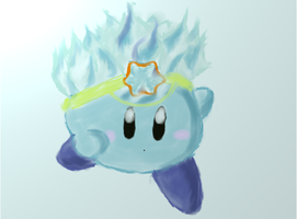 Ice Kirby by RayCrystal