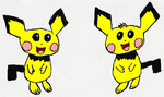 Pichu Bros. Sketch Colored by nickjuly4