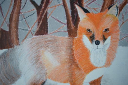 Fox in the snow by Livvy583