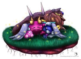 30 Day Kirby Challenge - 30 - Sleeping Angels by CelestiaDragonKnight