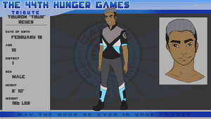 44th Hunger Games Application - Tibur Reyes by 54fetypin