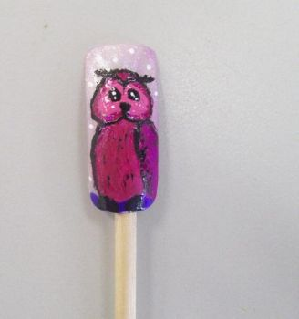 Owl Nail Art by Scoobygirl17