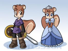 Royal squirrels for tcgamerboy2002 by rongs1234