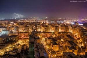 Galati from above by AlecsPS