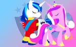 Cadence X Shining Armour Wallpaper by Origamigirl1223