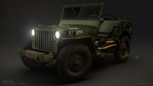 Willys Jeep night by zsozs