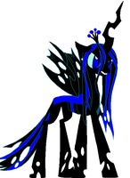 Queen Chrysalis Recolored by DuskWolf300