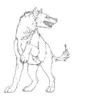 Hyena Lineart by Puppy-Chow