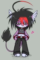 -Chibi Goth Razzor- For Marit by ZombiDJ