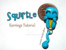 Squirtle Earrings Tutorial by NerdEcrafter