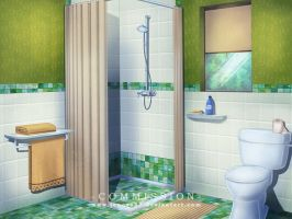 Commission: VN Background - Motel Bathroom by Jenova87