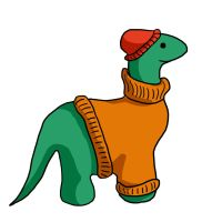 Turtleneck Brontosaurus by Picatso1