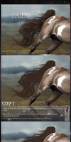 Hair (tail) TUTORIAL by Twistyh-stock