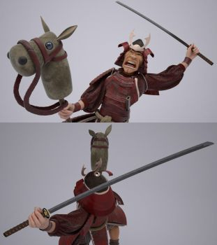 Crazy Samurai (3D) by StormXF3